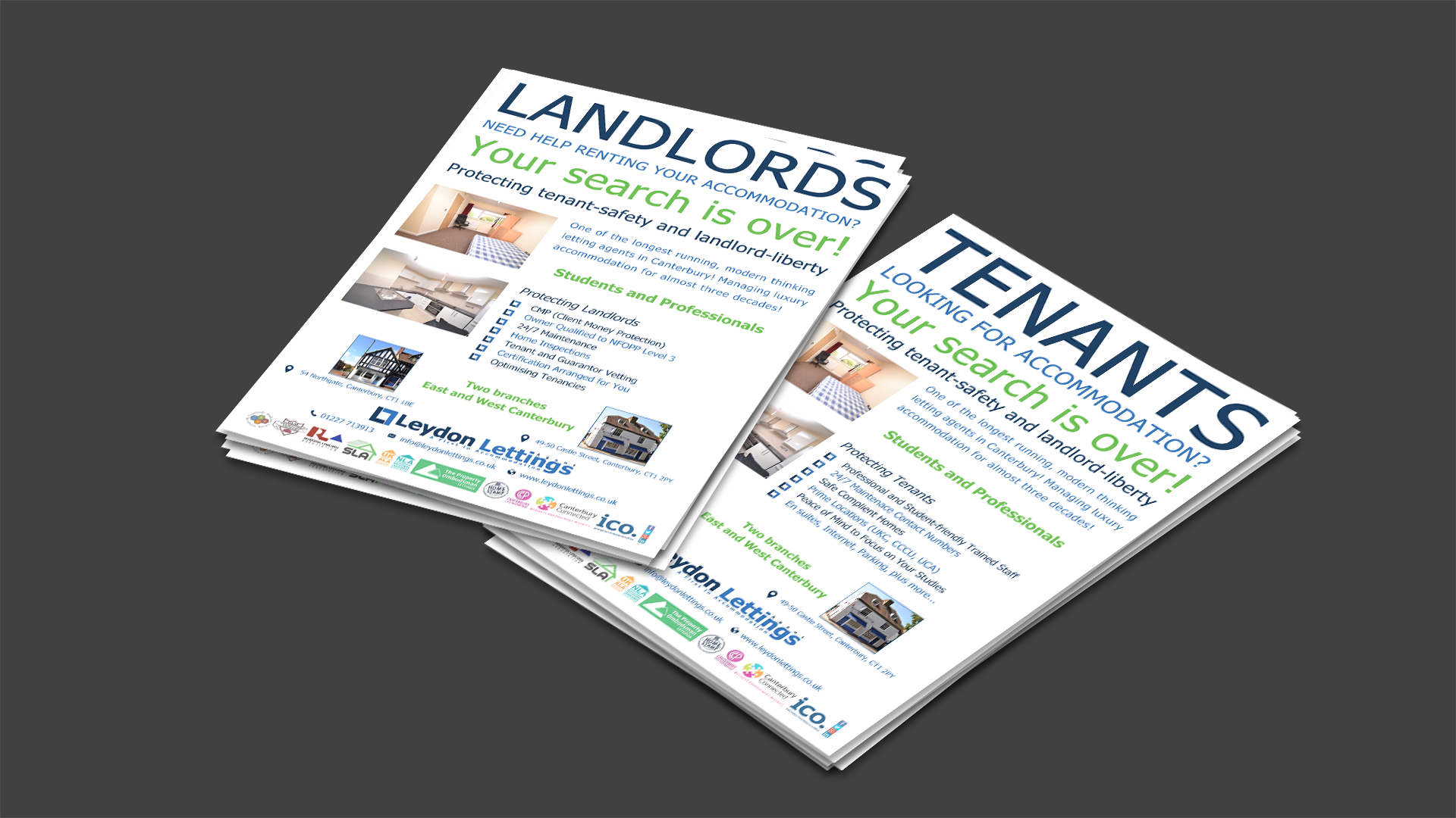 A5 Advertisement Leaflets: Graphic Design, Advertising and Marketing - Leydon Lettings